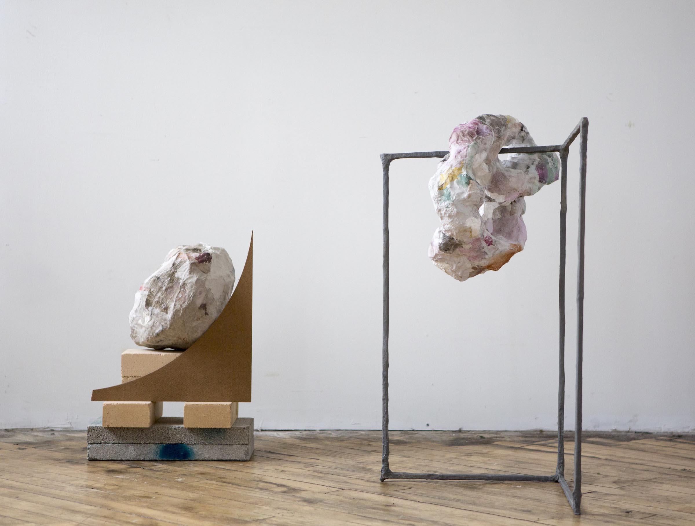 Alexis Granwell, Ballast Handmade paper, paper mache, wood, cement, bricks, steel 27