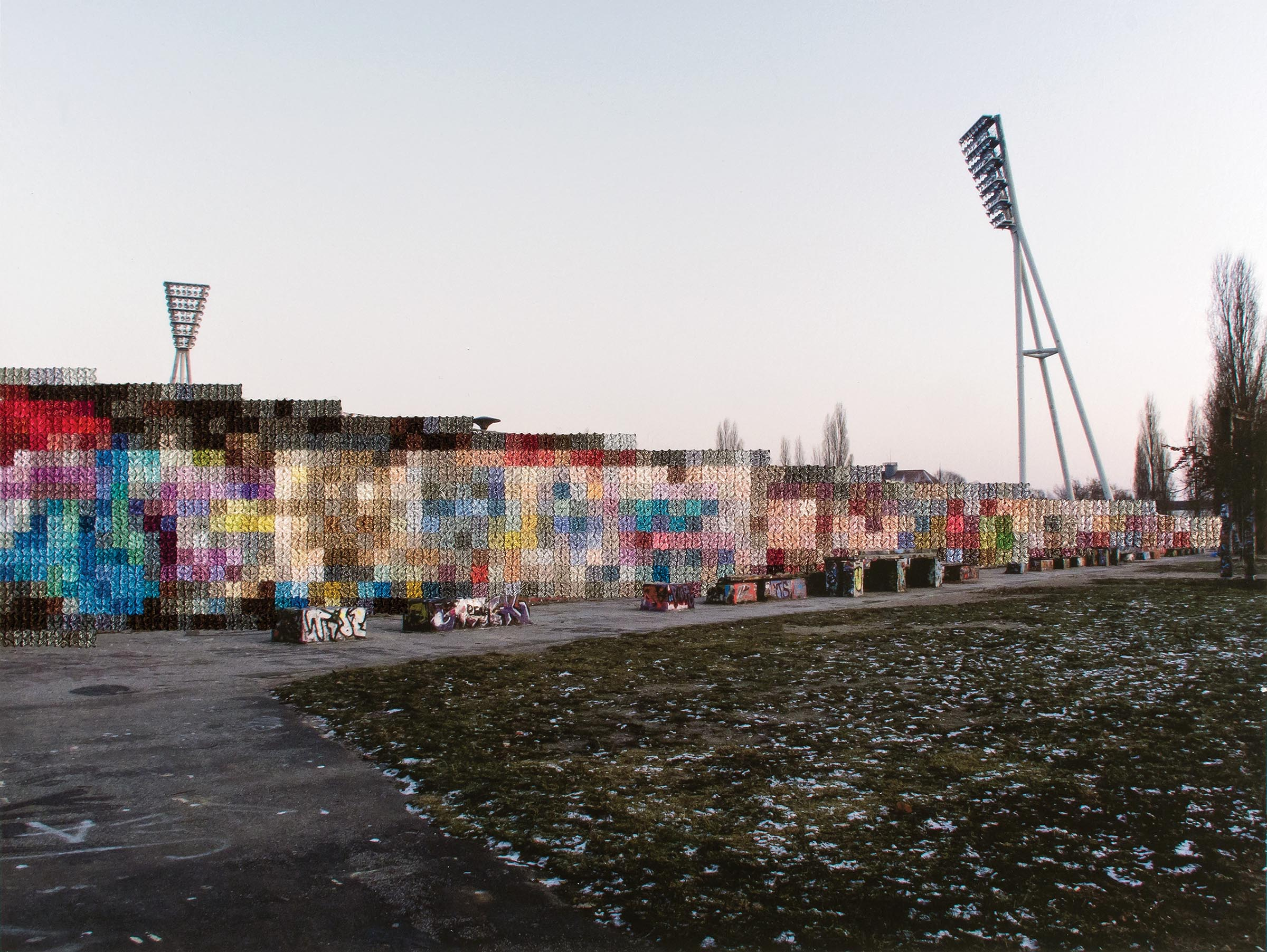 Diane Meyer , Mauer Park, Hand Sewn Archival Ink Jet Print, 8.5 x 11 inches, 2012
