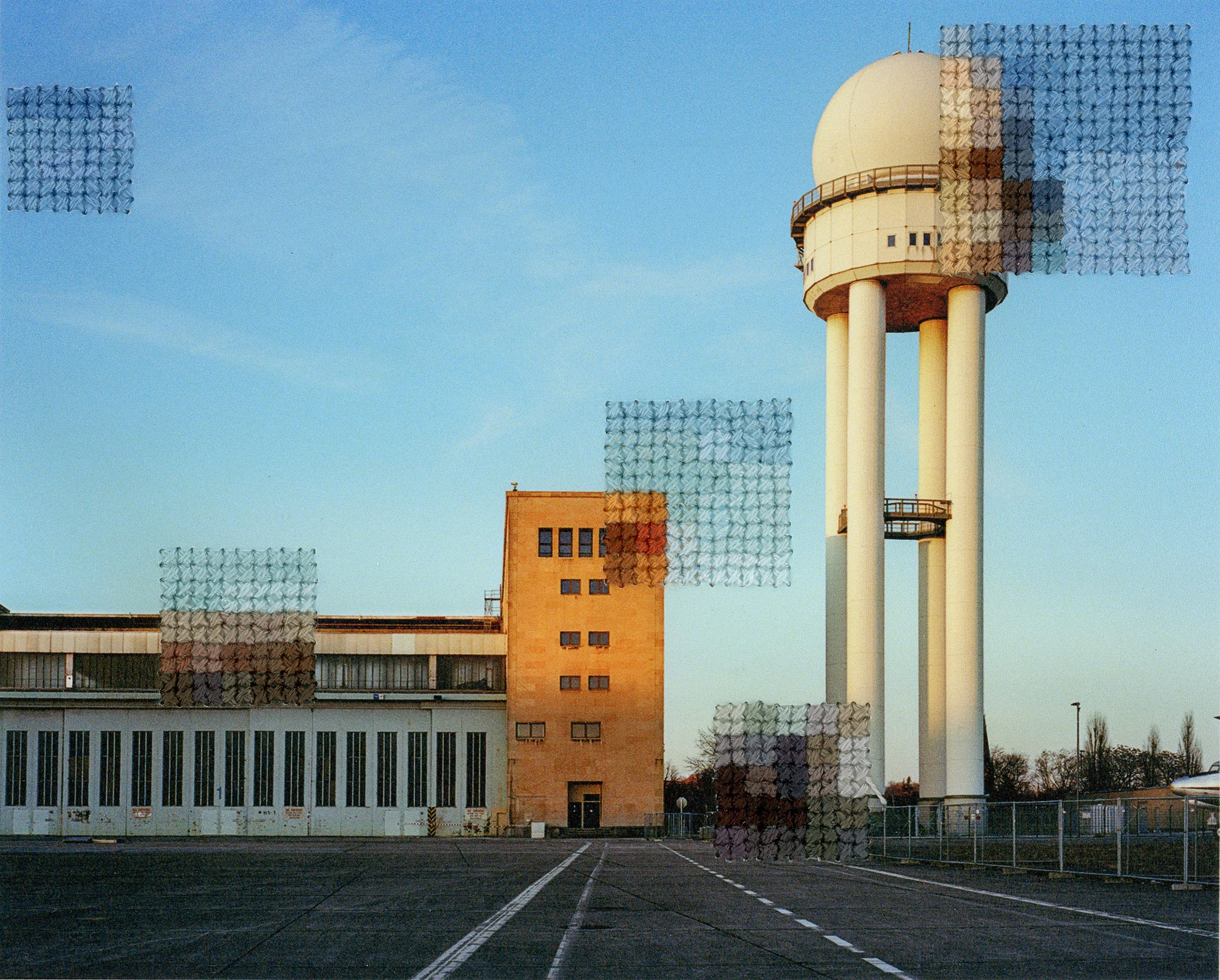 Diane Meyer , Templehof, Hand Sewn Archival Ink Jet Print, 4.5 x 5.5 inches, 2019