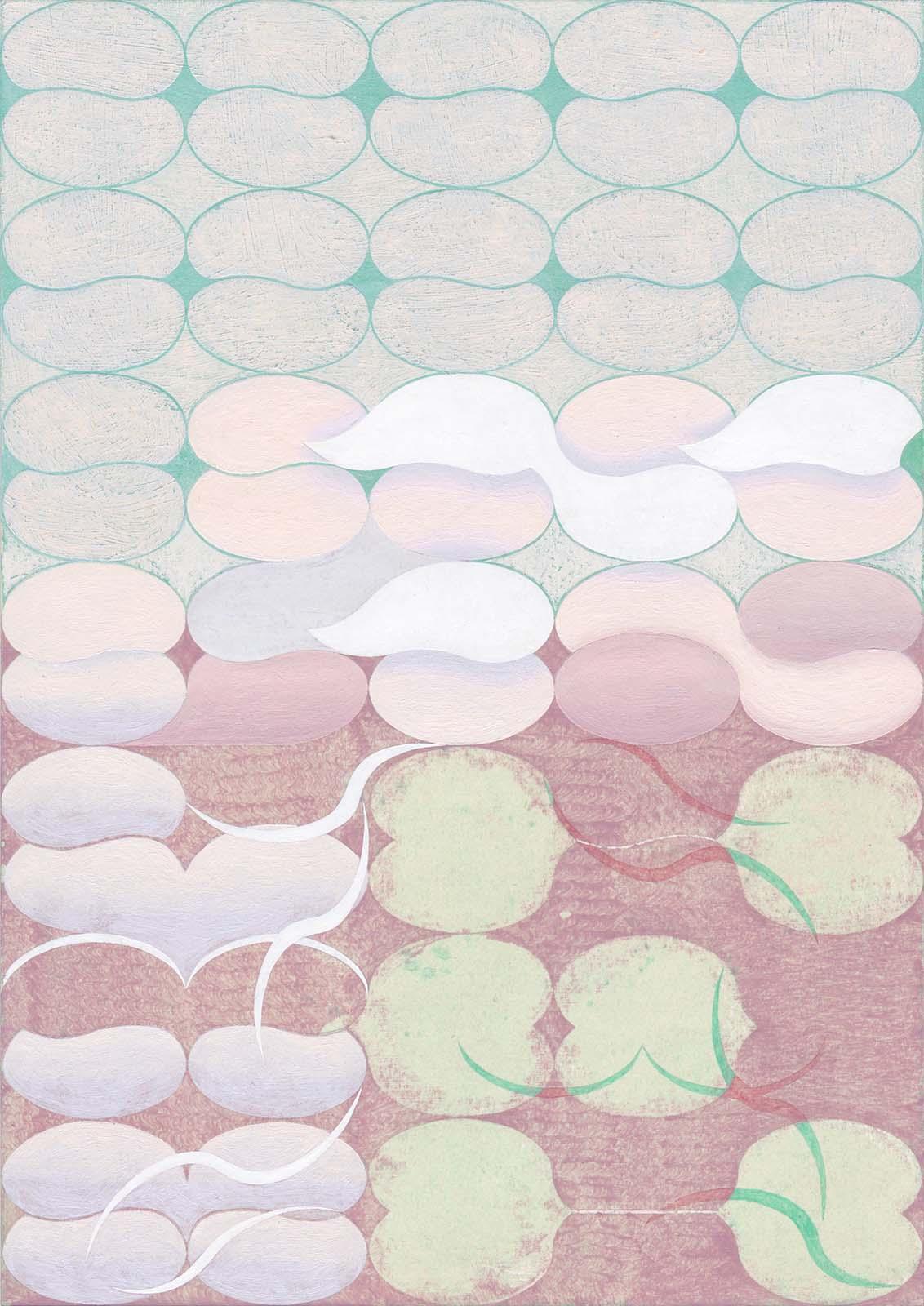 Jinyong Park, i- i-, acrylic on paper, 29.7 x 21 cm, 2018