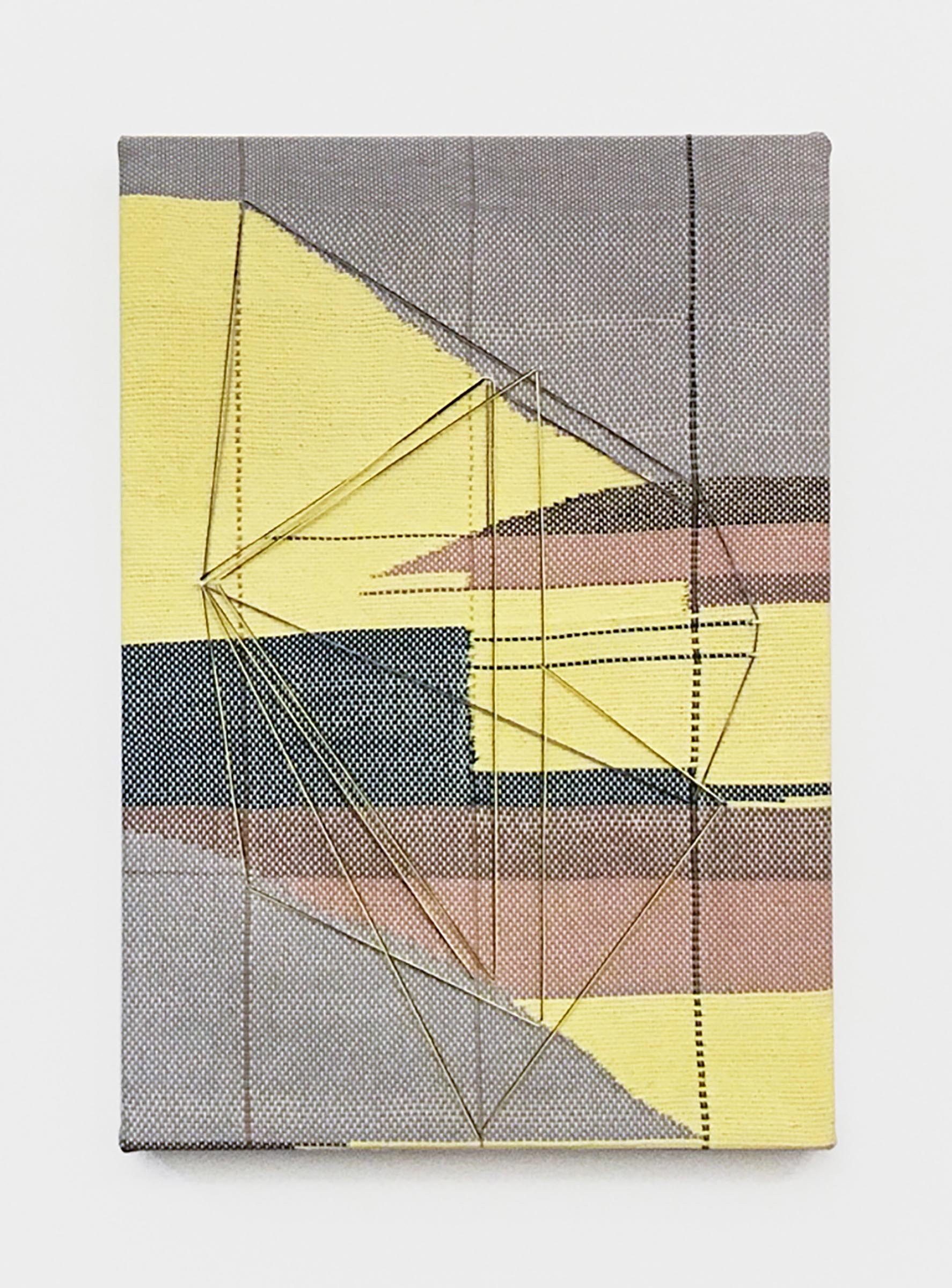 Mary Raap, For The Others, Handwoven cotton, silk, and acrylic medium over canvas, 20 x 14 x 1.5 in, 2019