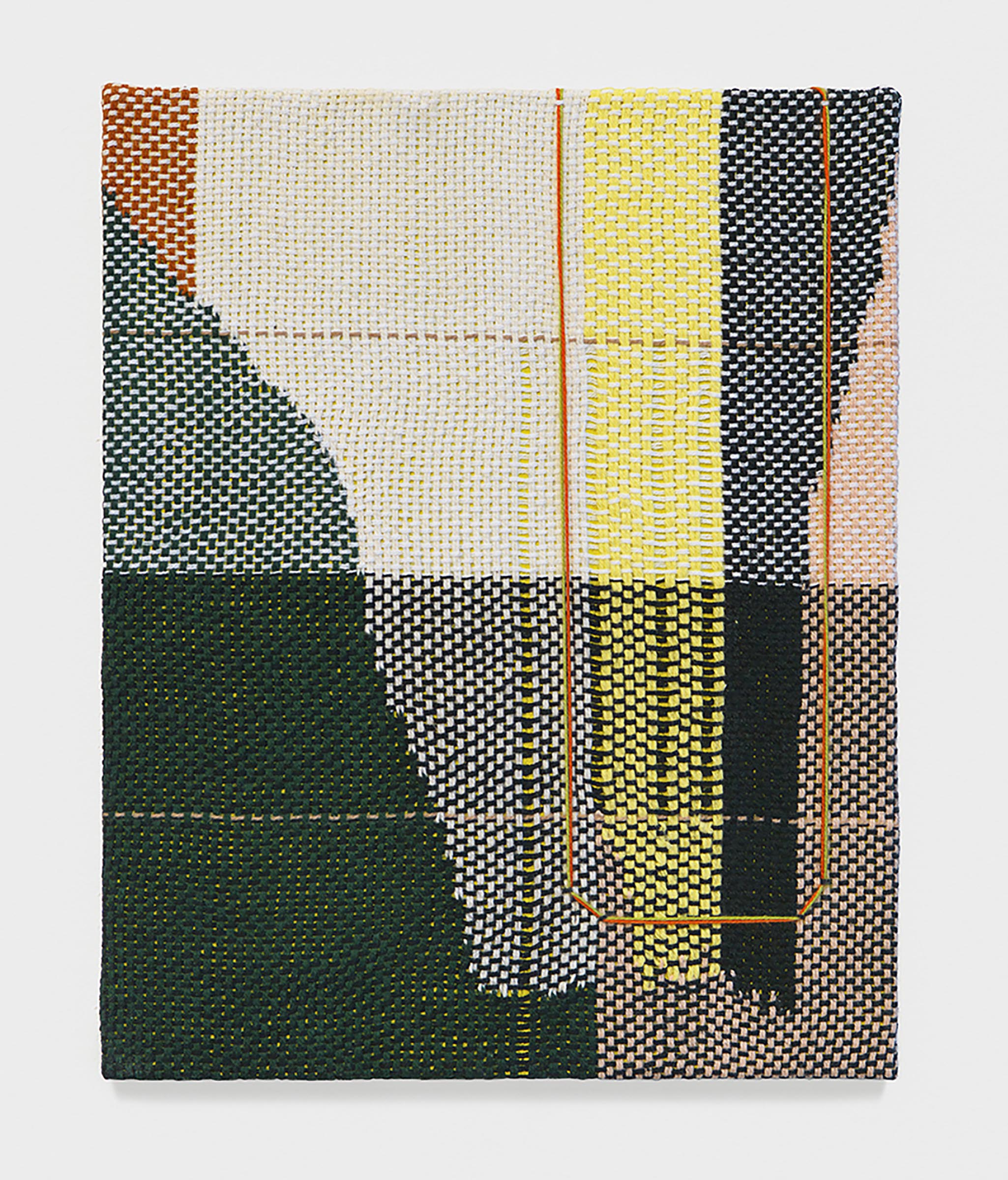 Mary Raap, Night Shift, Edition 1 of 28, Handwoven cotton and acrylic over panel, 10 x 8 x .25 in, 2019