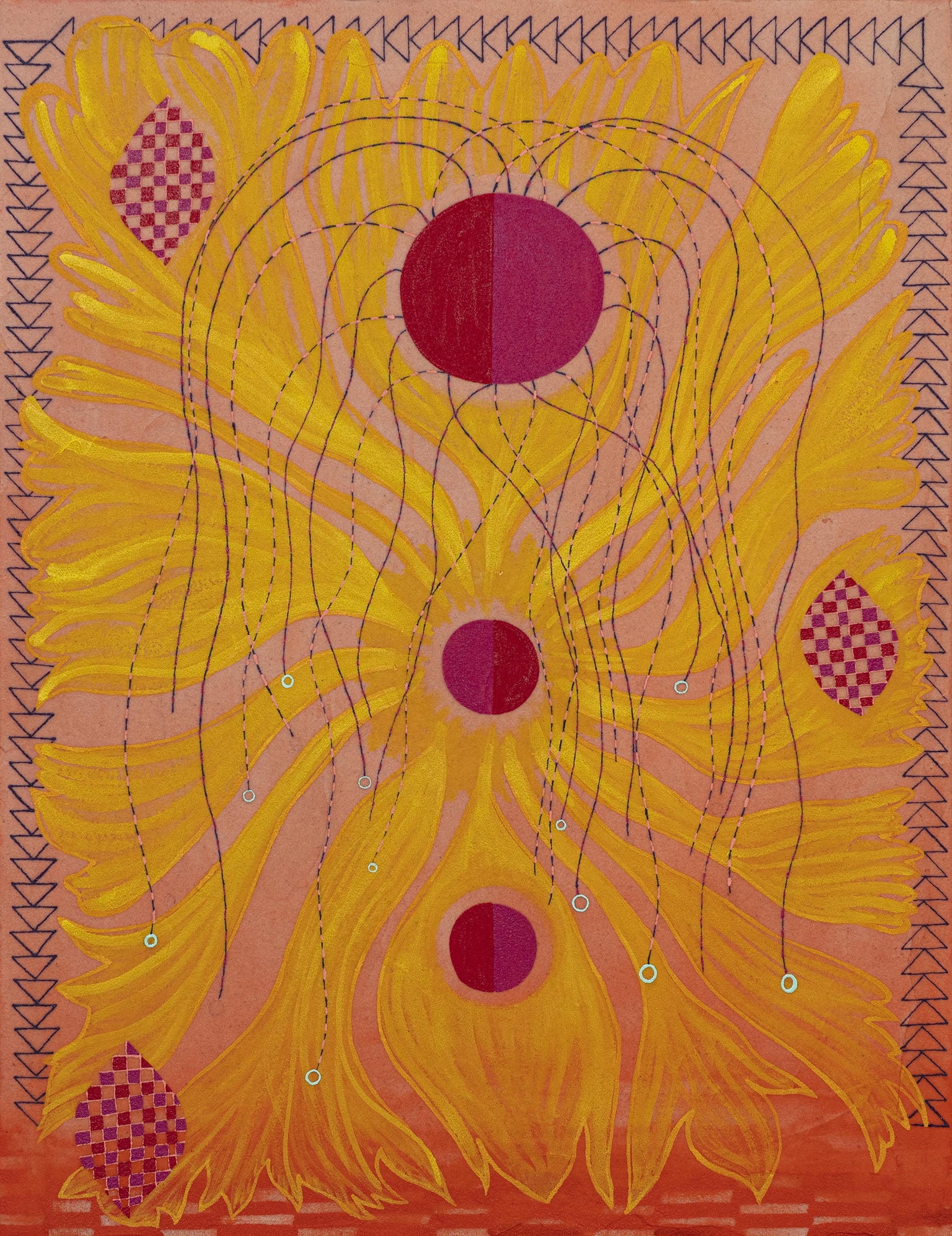 Natessa Amin, I Plunge my Hands into the Sun, Acrylic on canvas, 20
