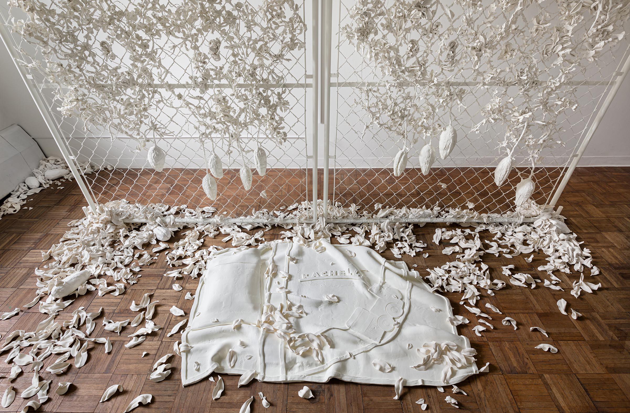 Rachelle Dang sculptural installation at MH Project