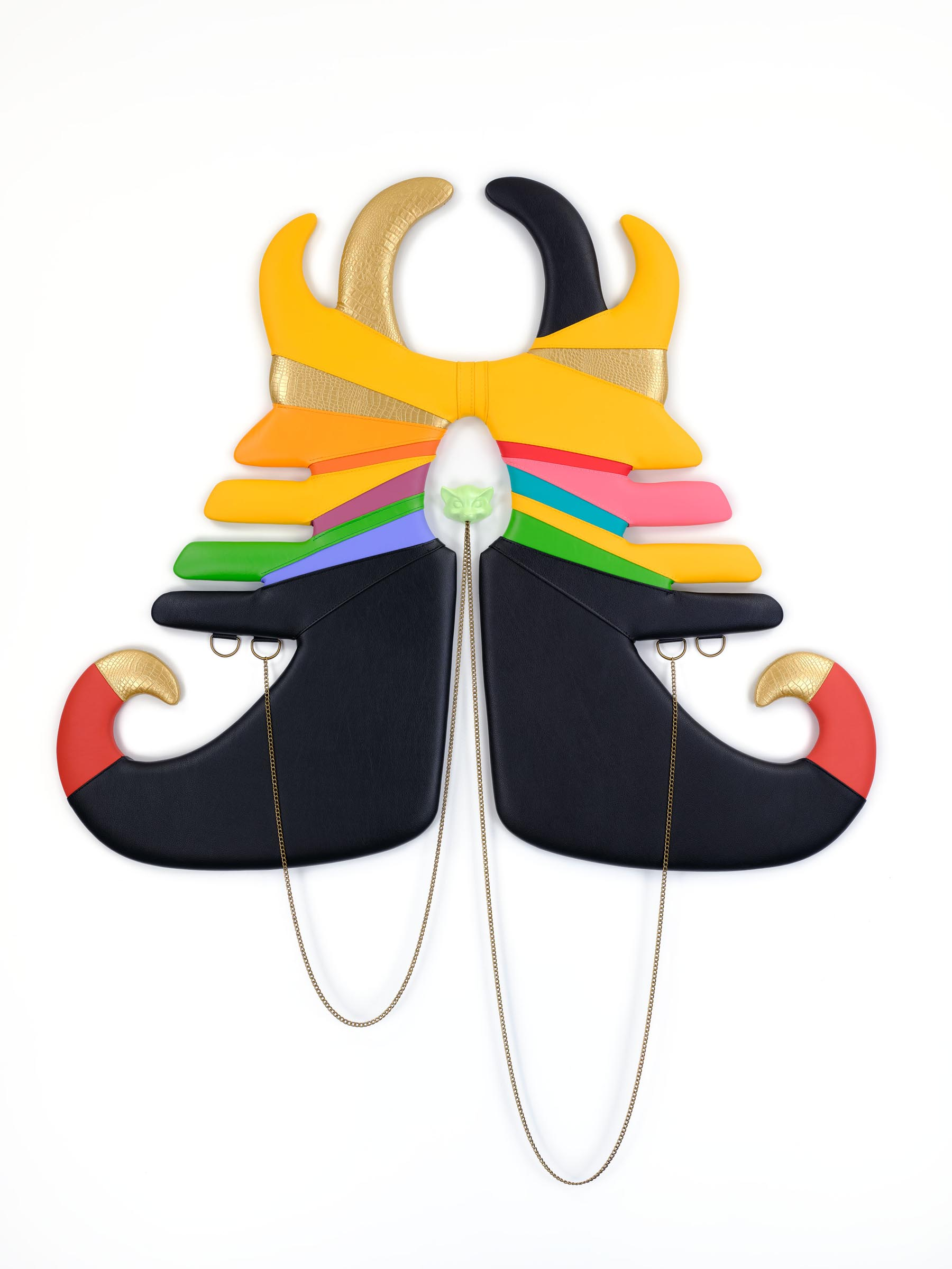 Trish Tillman, Moored--Shift Colors Vinyl, vegan leather, chain, hardware, plaster, acrylic, wood, foam 64