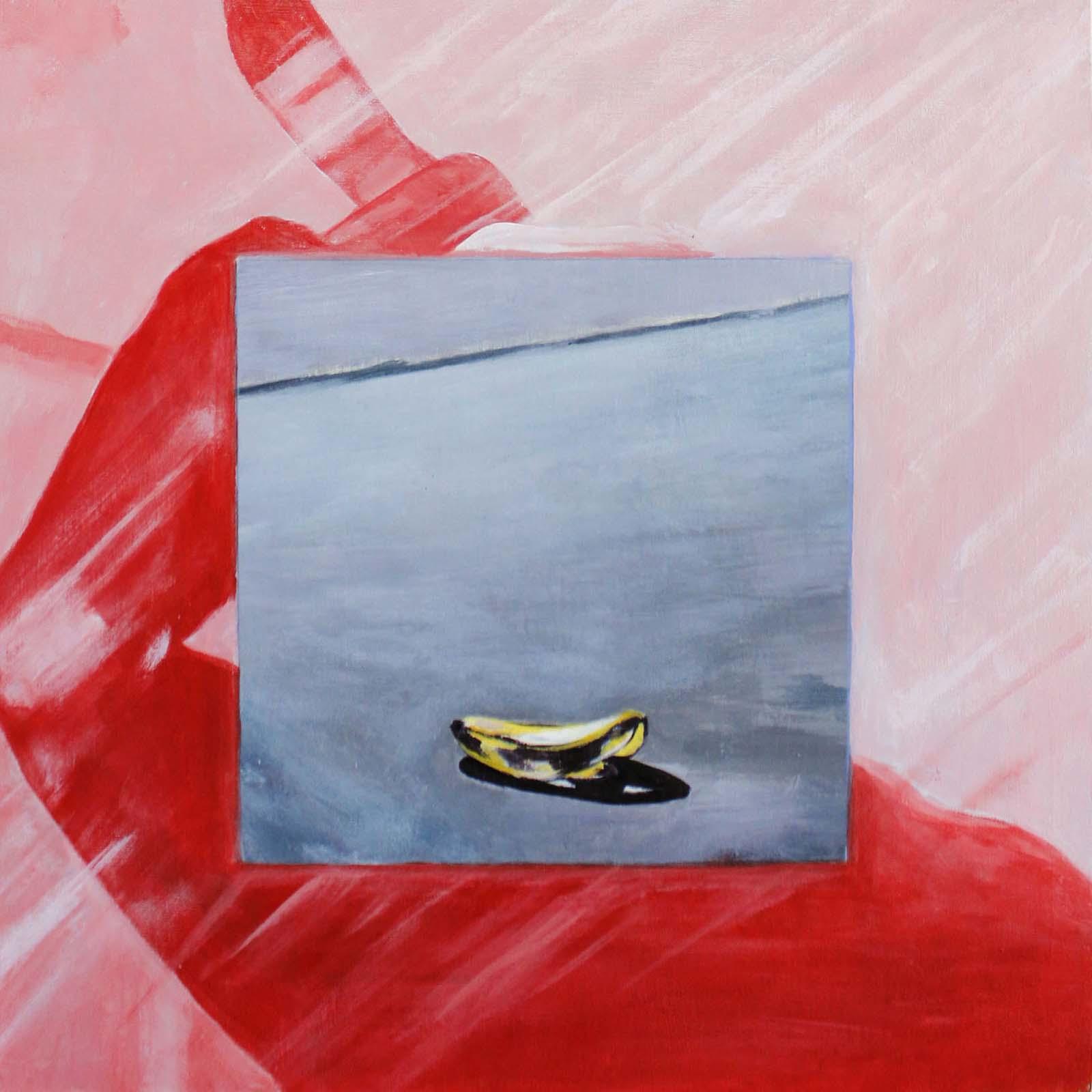 Alyssa Kaboskey, Psycho Banana, acrylic on panel, 12