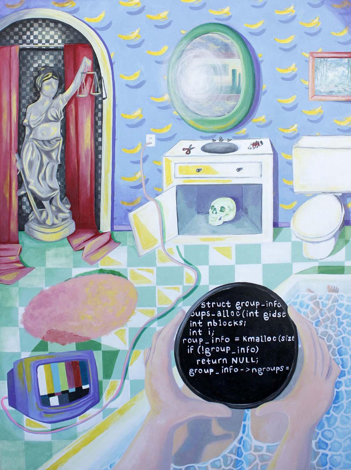 Alyssa Kaboskey, Self Care, acrylic on panel, 24