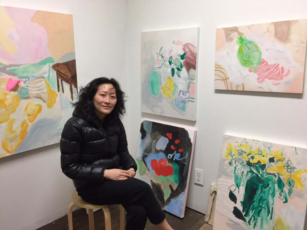 Angela Ziqi Zhang in her studio