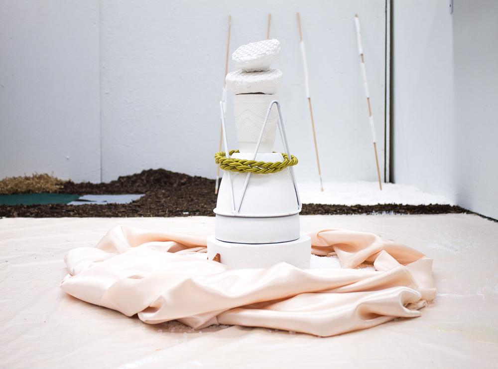 Angelina Parrino, The smell of rain, 2018, mixed-media installation, 10 x 10 ft
