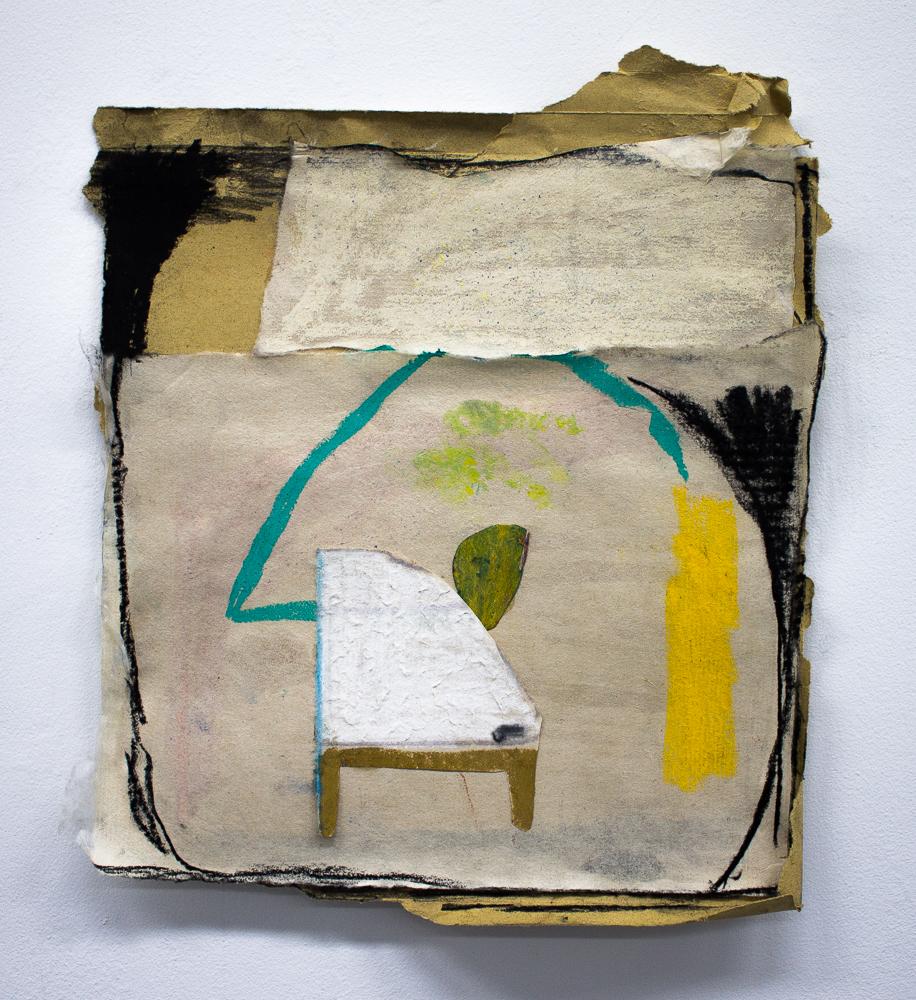 Angelina Parrino, Mimesis, 2018, mixed-media drawing, 8 x 10 inches
