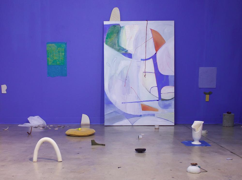 Angelina Parrino, The Blue Room, 2018, mixed-media installation, 12 x 12 ft