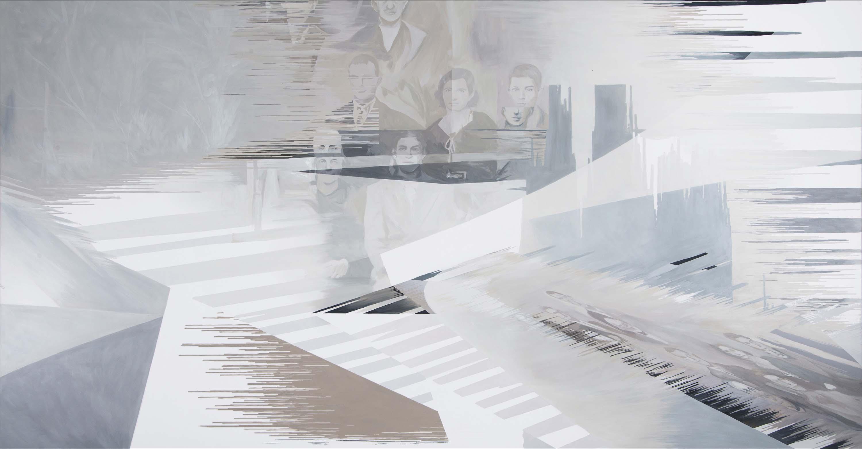 Anna Caruso, Non ero diretto qui ma sono qui, 2018, acrylic on canvas, 80x150 cm