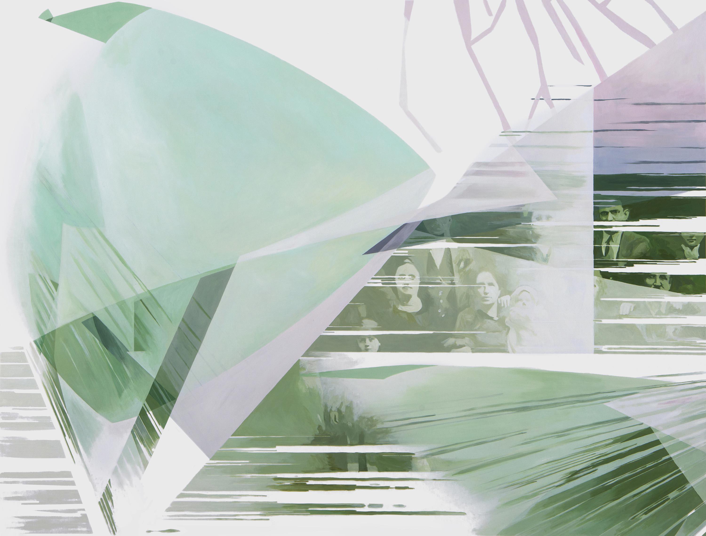 Anna Caruso, Ogni giardino continua ad esistere, 2018, acrylic on canvas, 60x80 cm