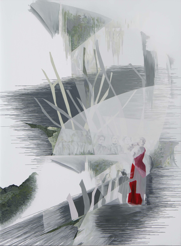 Anna Caruso, L'albero e le preghiere, 2017, acrylic on canvas, 80x60 cm
