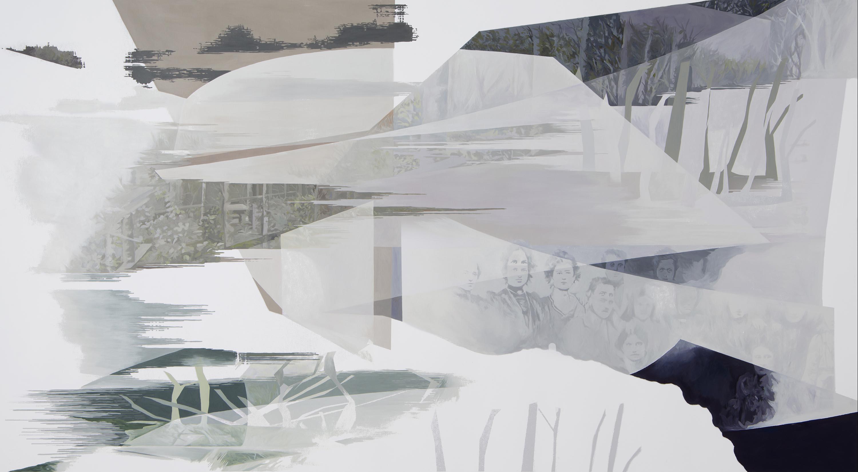 Anna Caruso, Abito uno specchio deformante, 2017, acrylic on canvas, 80x150 cm