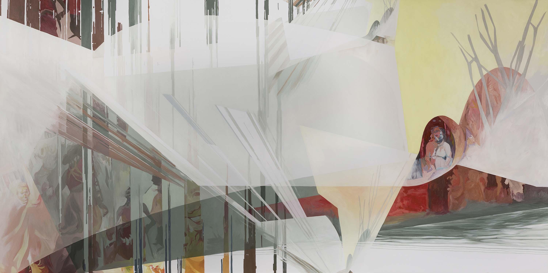 Anna Caruso, Hai colpito un altro ma miravi a me, 2018, acrylic on canvas, 60x120 cm