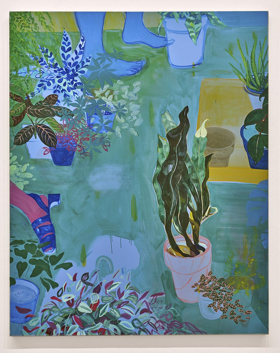 Anna Wehrwein, Replanted, or, by falling asleep she becomes a plant, 2017 
