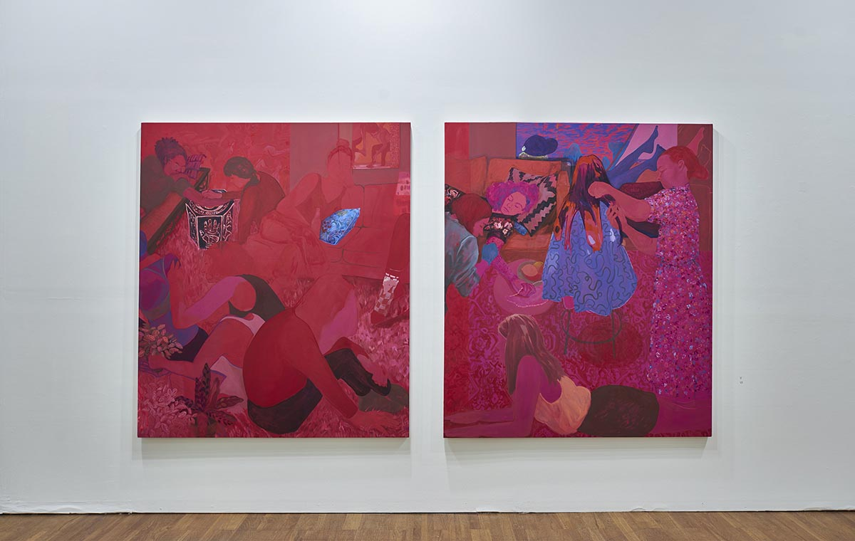Anna Wehrwein, The Red Studio, 2017, The Pink Studio (diptych)