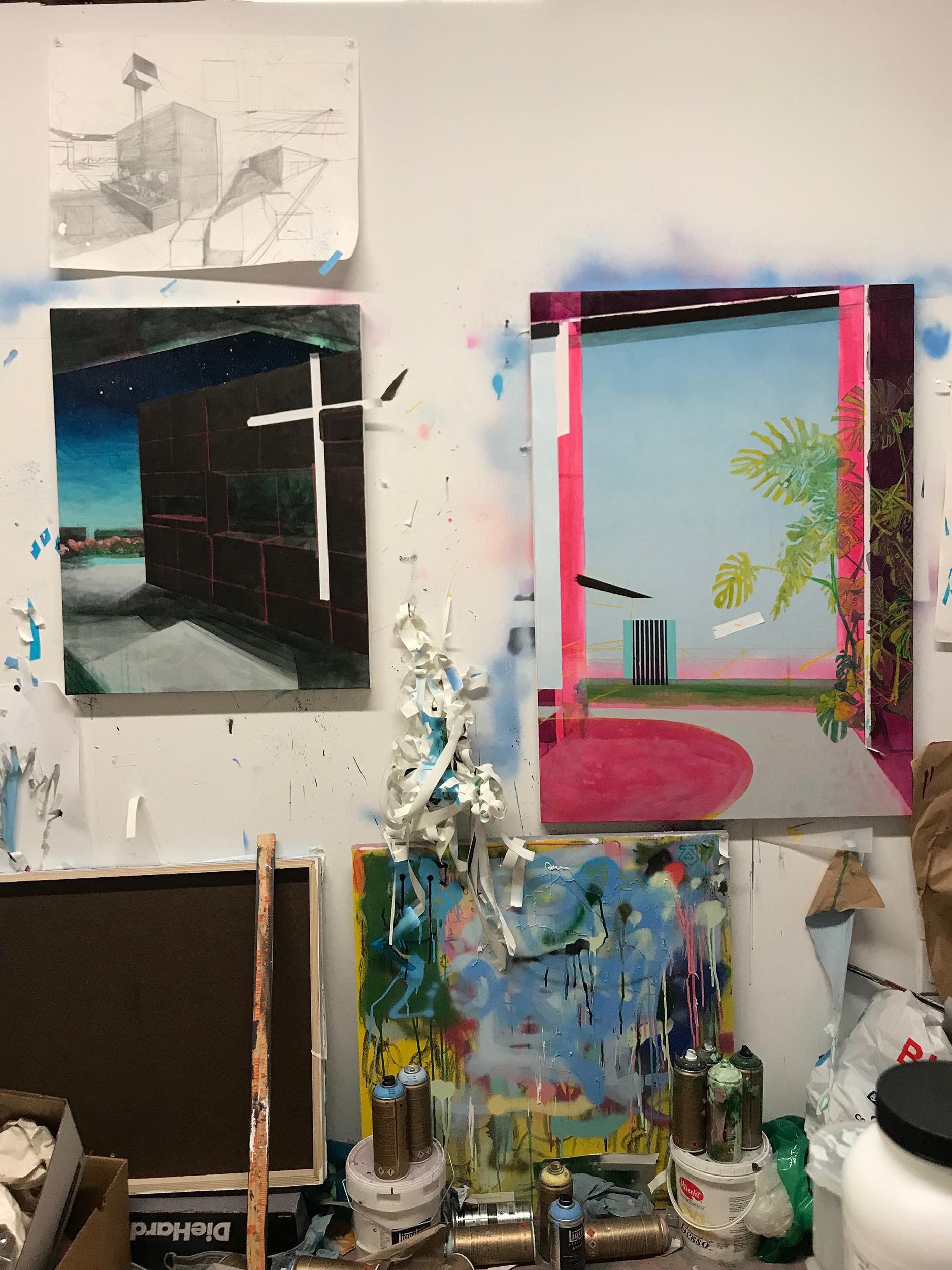 Parra's studio, 2019