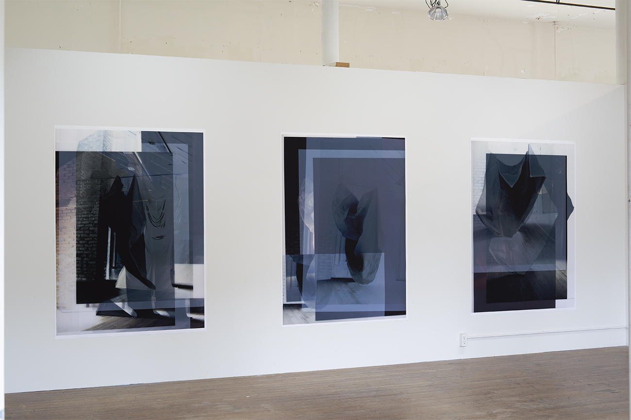 "Daniel Melo, Installation 2, Headlands Center for the Arts Project Space July 2018, Images on Cotton Paper, 43""x58"" each, 2018"