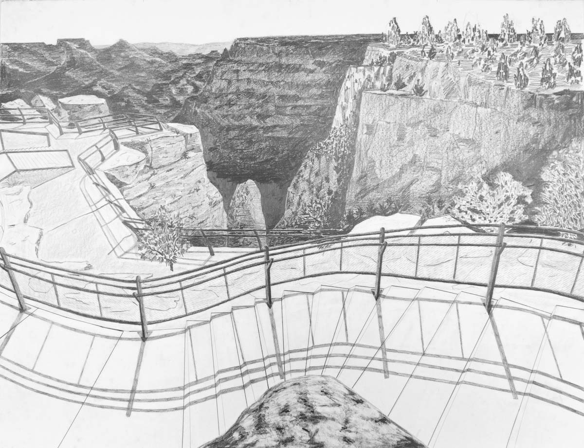 Dave Walsh, Mather Point, Graphite on Paper, 38