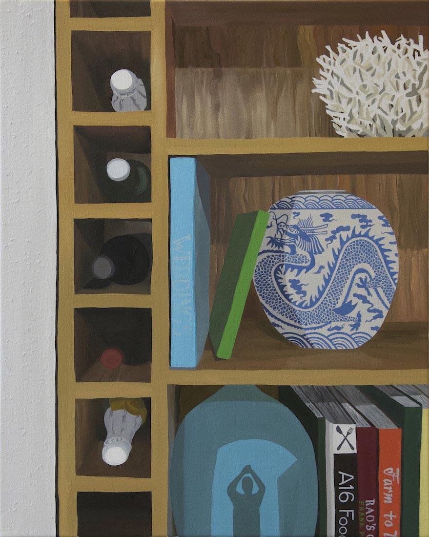 Davis Arney, Shelfie, 2018, Oil on canvas, 30