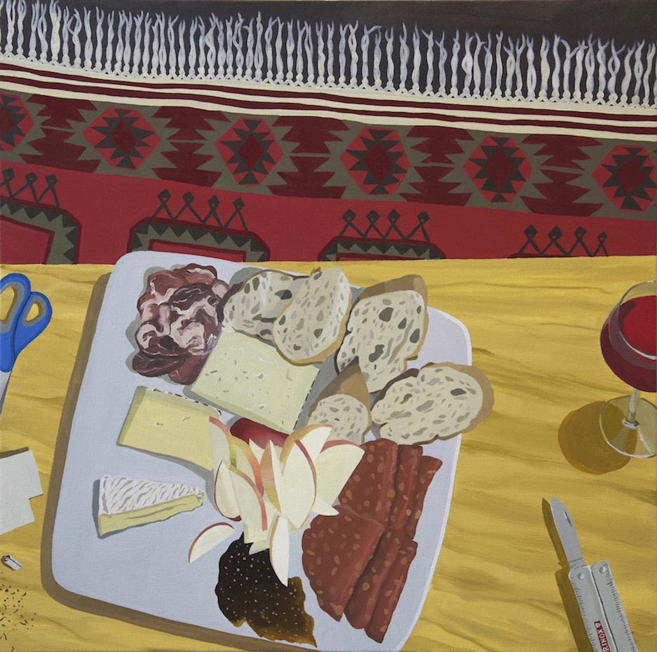 Davis Arney, Coppa, Manchego, Etc, 2018, Oil on canvas, 30
