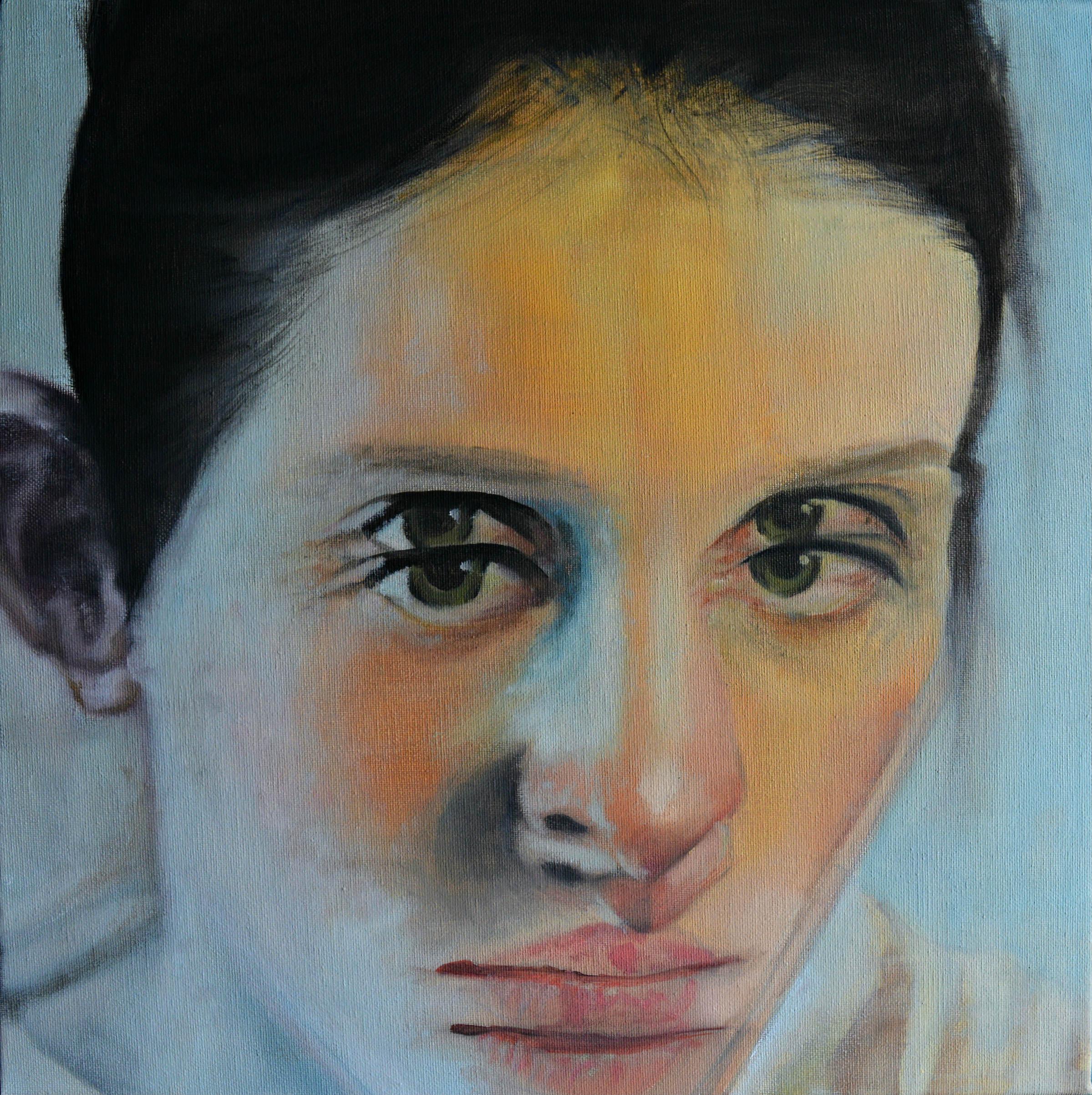 Dimitris Vavouras, Doppelgänger, 2017, oil on canvas, 40x40 cm