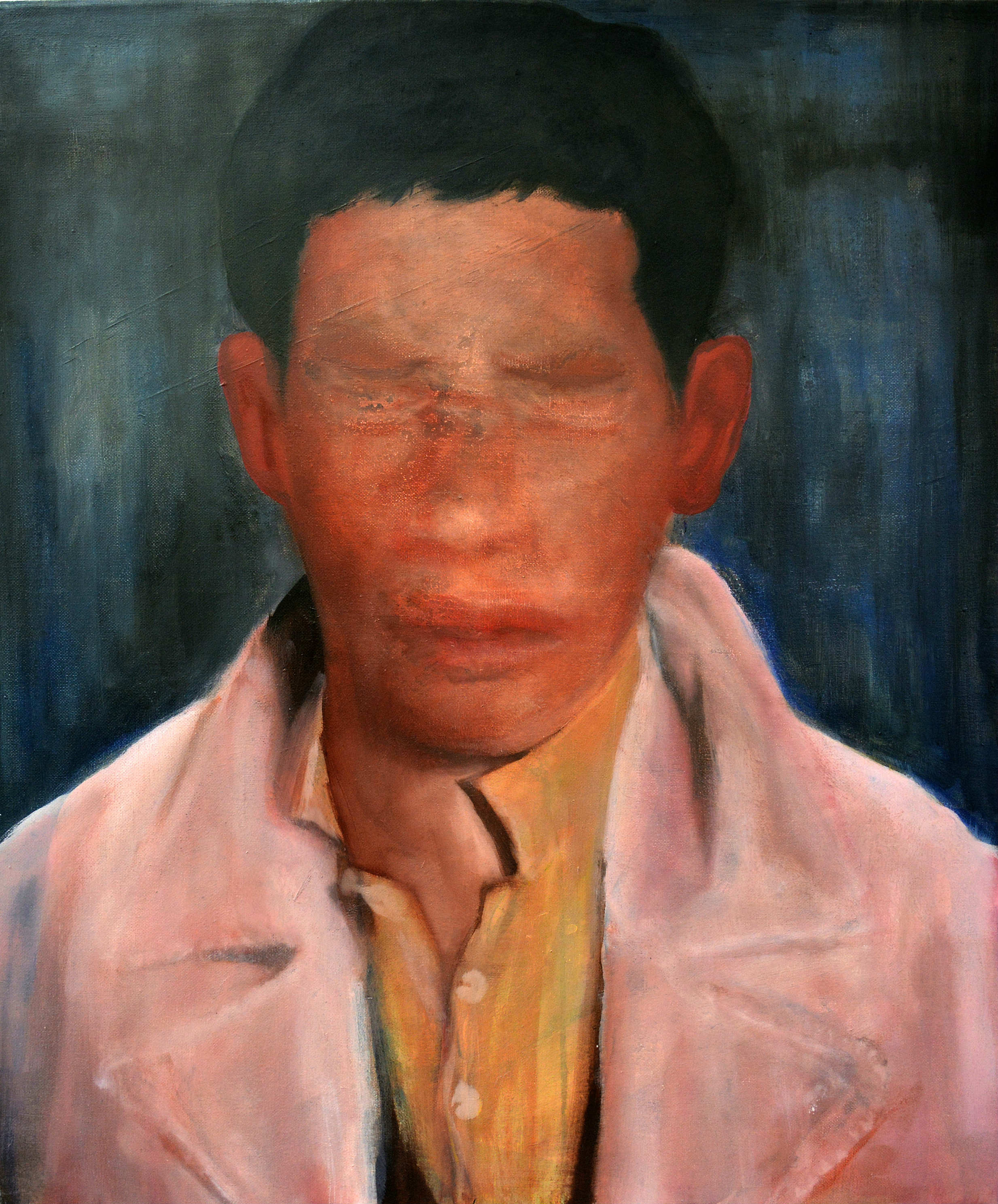 Dimitris Vavouras, When God took you back, 2016, oil on canvas, 55x72 cm