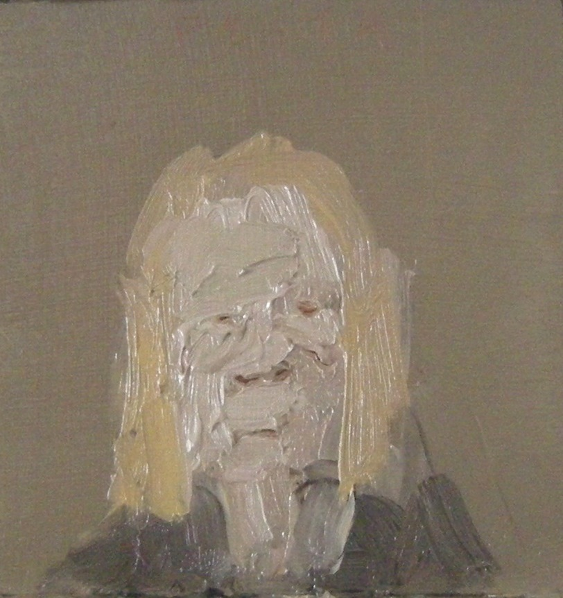 Yellow Hair, 2018, oil on wood, 4 x 4 inches