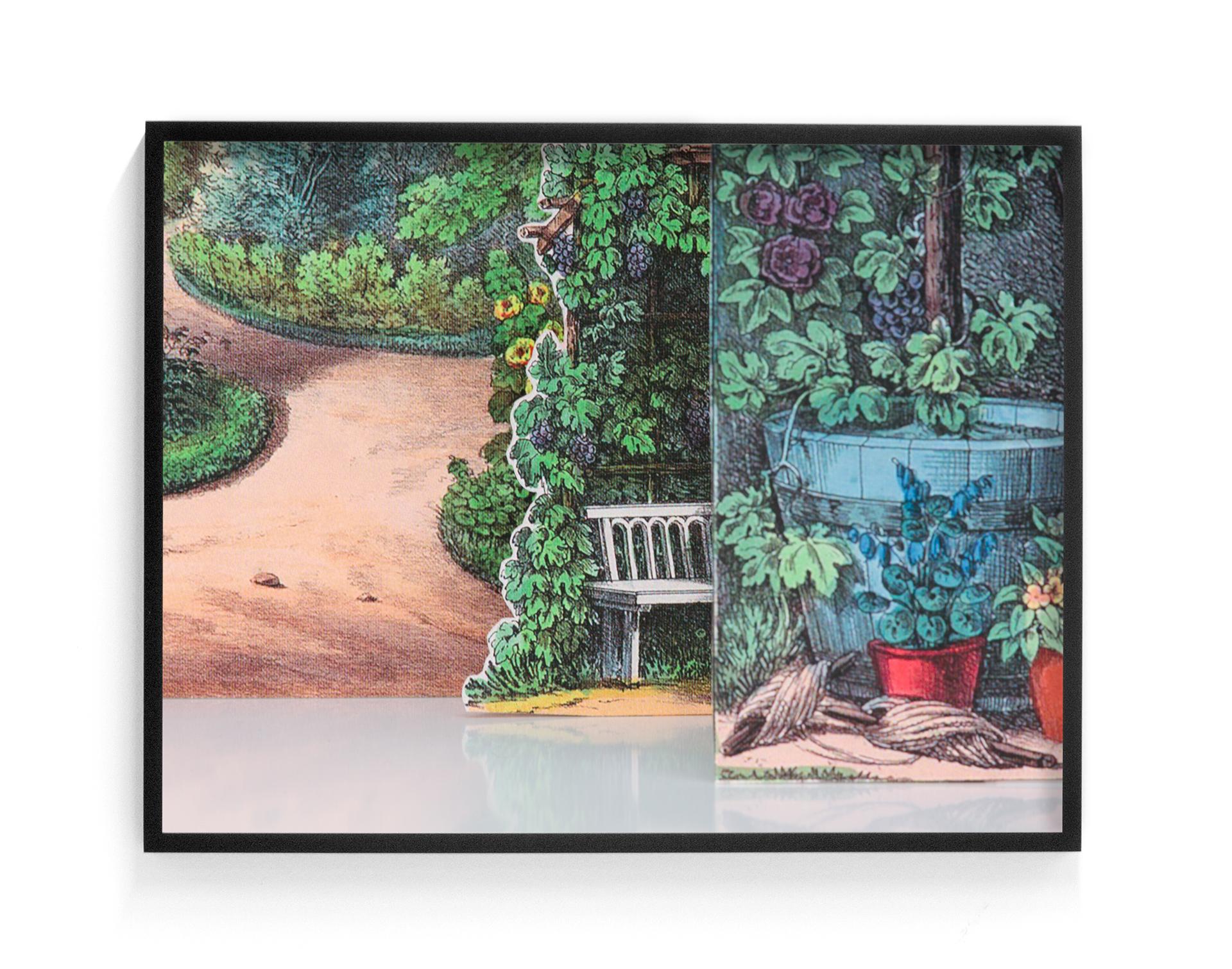 Elizabeth Corkery, Garten Versatzstucke, 2017, Archival digital print, 18
