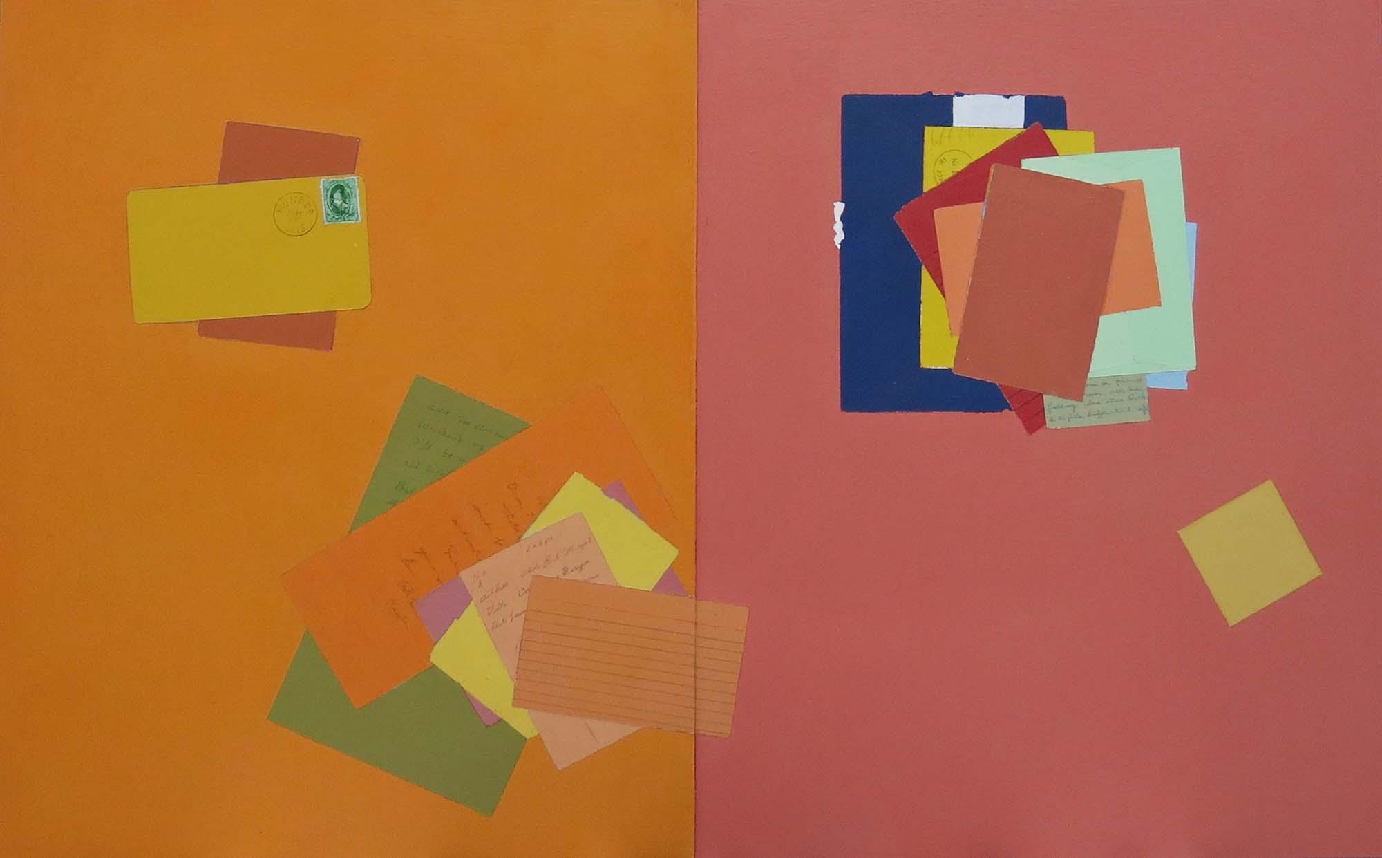 Fern T. Apfel, Monroe, Wisconsin, Acrylic on 2 wood panels, 20