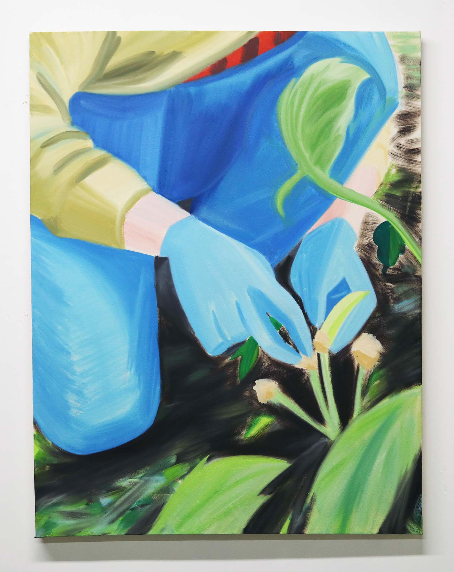 Grace Mattingly, Emma in the Garden II, Oil on canvas, 36