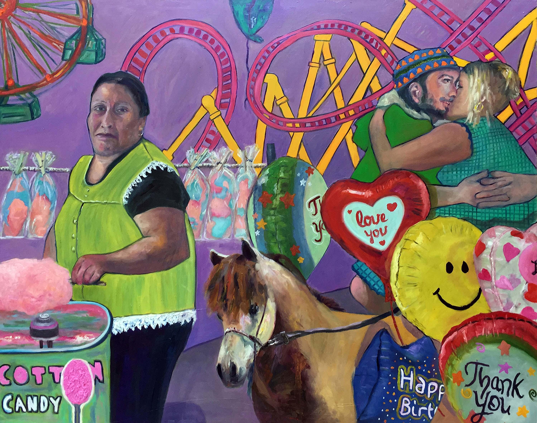 Love You by Jessica Alazraki, 2017, Oil on Canvas, 48x60 inches, sold