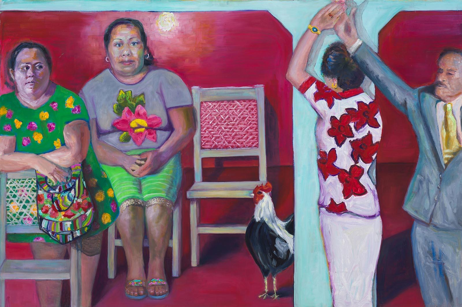 Dance by Jessica Alazraki, 2016, Oil on Canvas, 48x70 inches, for sale