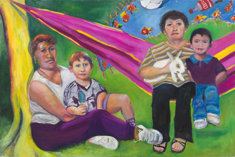 Picnic by Jessica Alazraki, 2016, Oil on Canvas, 48x60 inches, sold