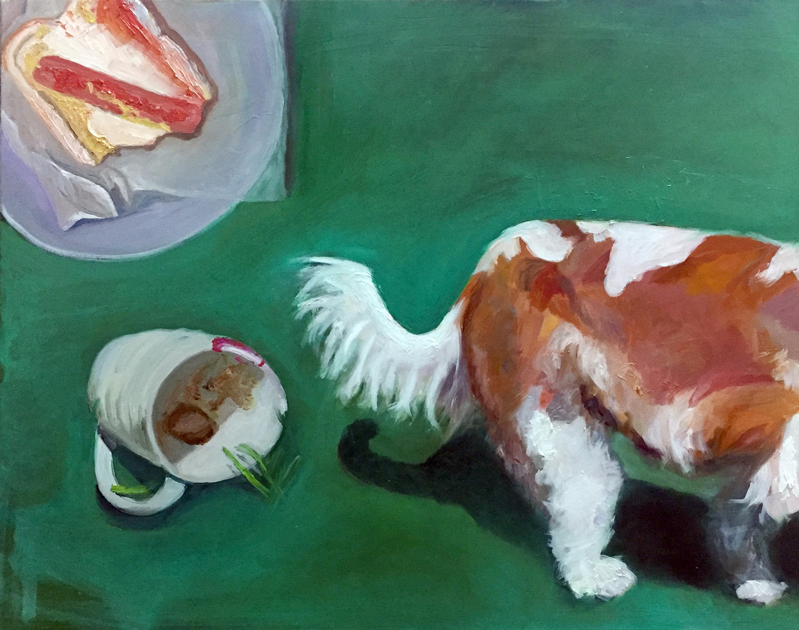 Wag the Dog by Jessica Alazraki, 2016, Oil on Canvas, 28x28 inches, for sale