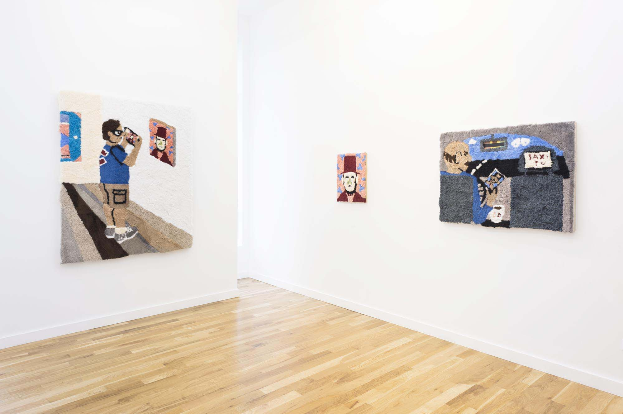 Jessica Campbell, who dis (Installation view), 2018, Western Exhibitions, Chicago. Photograph by James Prinz