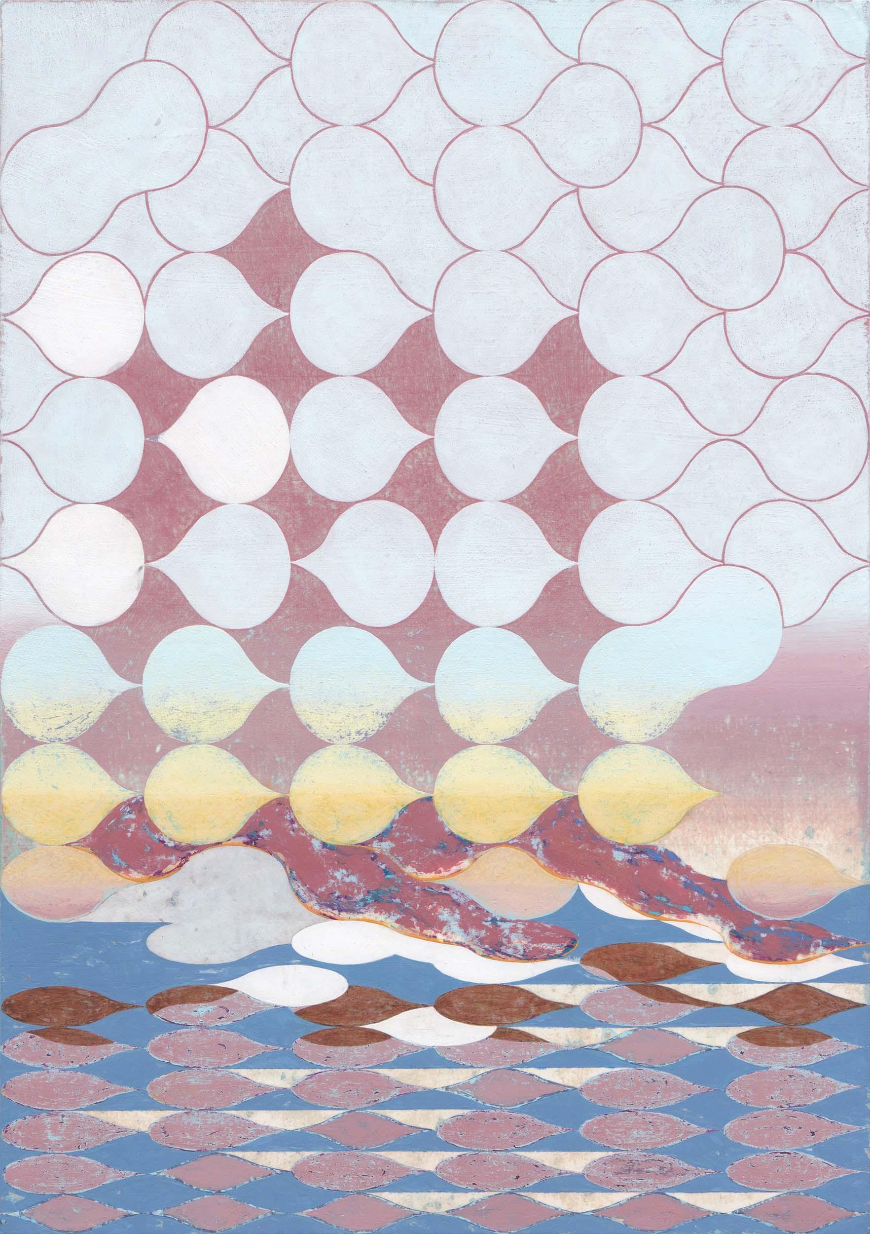 Jinyong Park, aːsks, Acrylic on paper, 29.7 x 21 cm, 2018