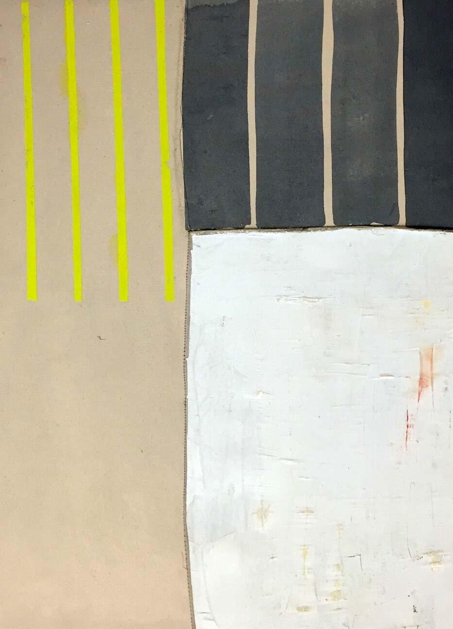 Jodi Hays, Blank, oil on sewn canvas over panel, 32