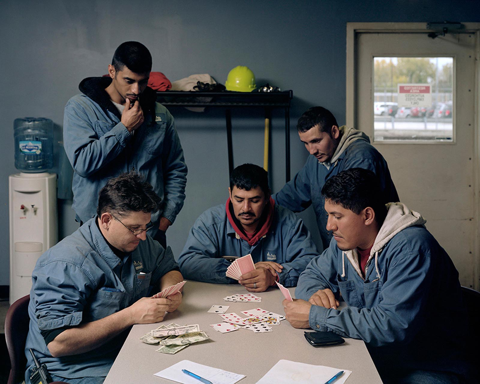 "Juan Giraldo, Lunch Break, Chicago, IL 2013, Archival Pigment Print, 40""x 30"""