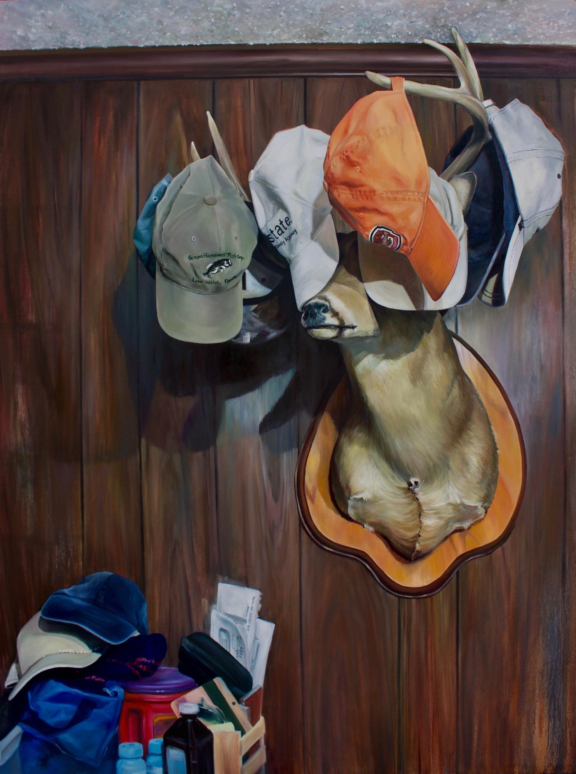 Hanging Your Life On The Wall, 2017, Oil on Canvas, 36