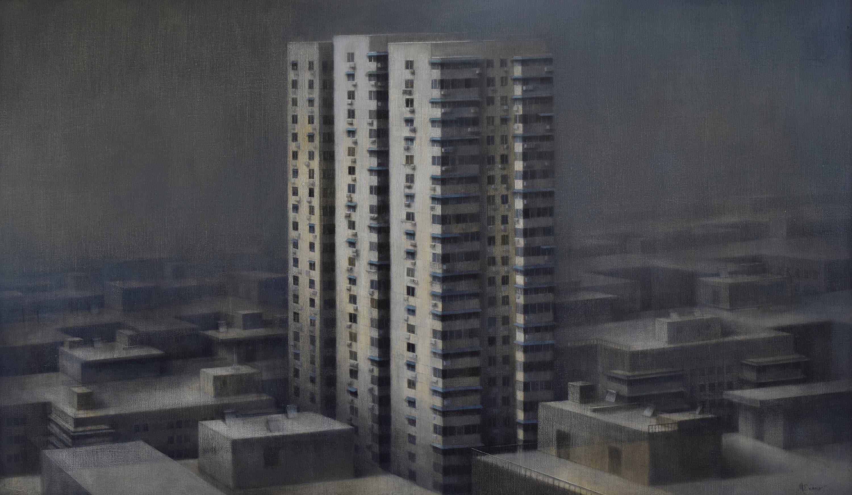 "Status, 35"" x 60"", oil on canvas, 2014"