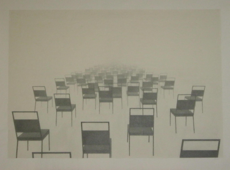 "Compulsive Congestion graphite pencil on rice paper, 18"" x 26"", 2012"