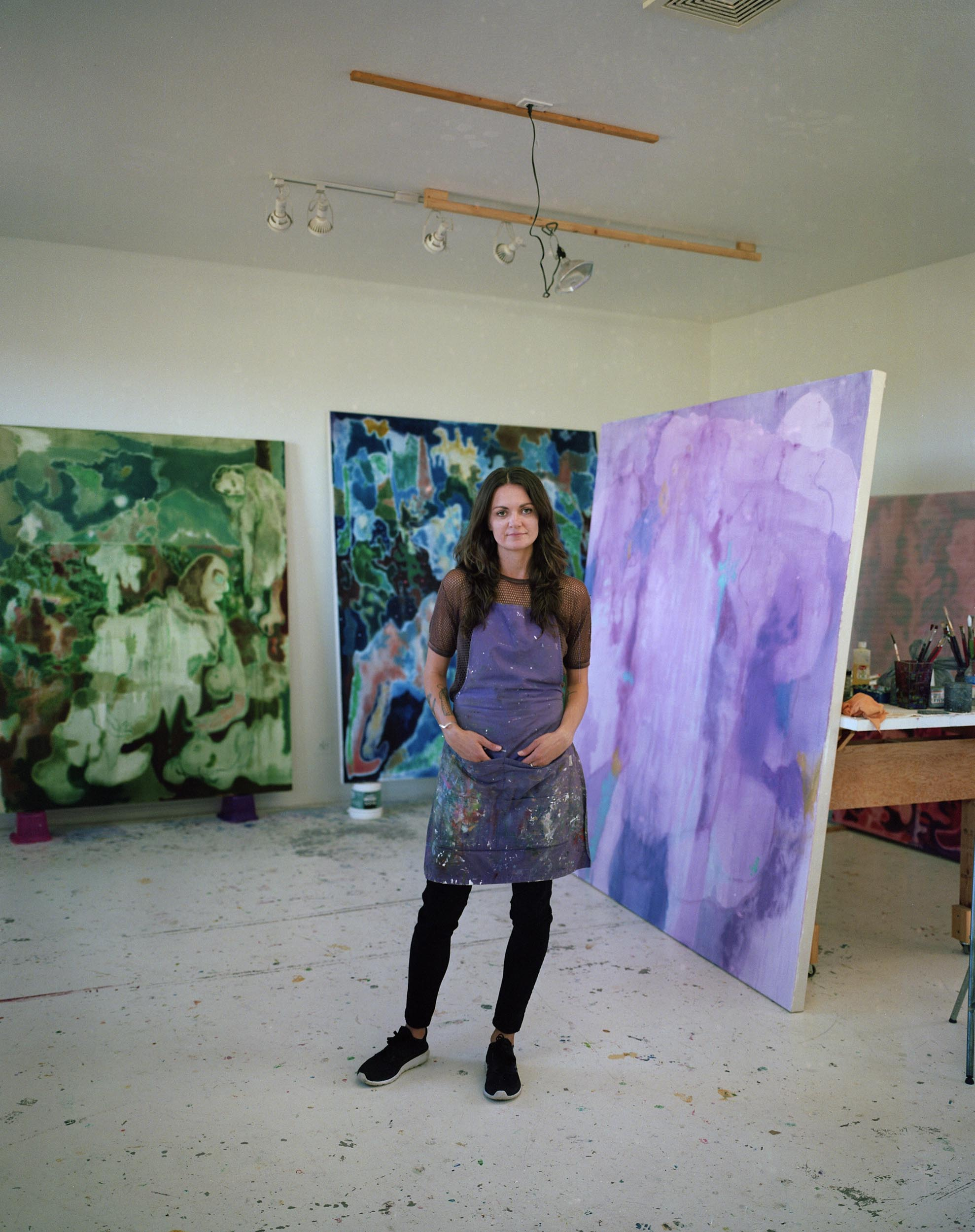 Ruznic in her studio, Photo by Theo Schear