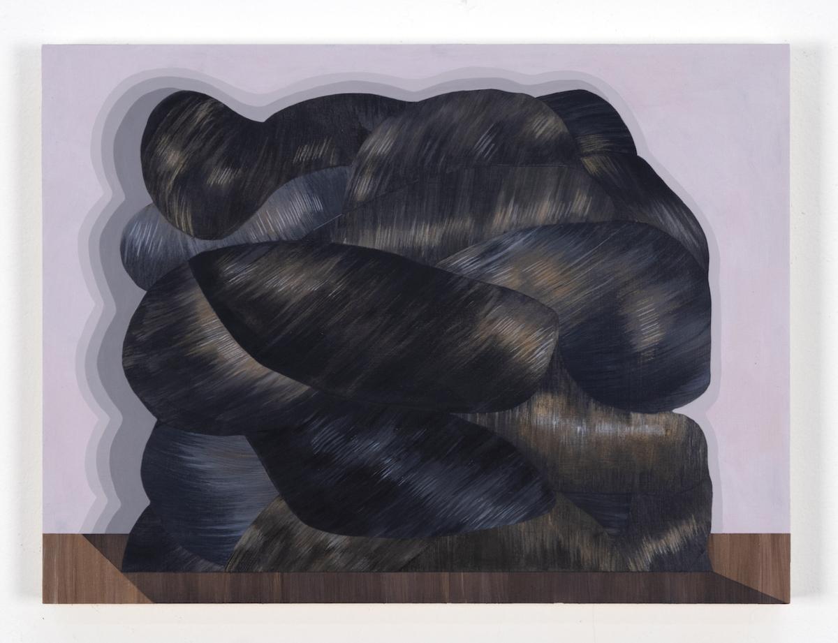 Mary Laube, Queen Min's Hair, acrylic on panel, 9