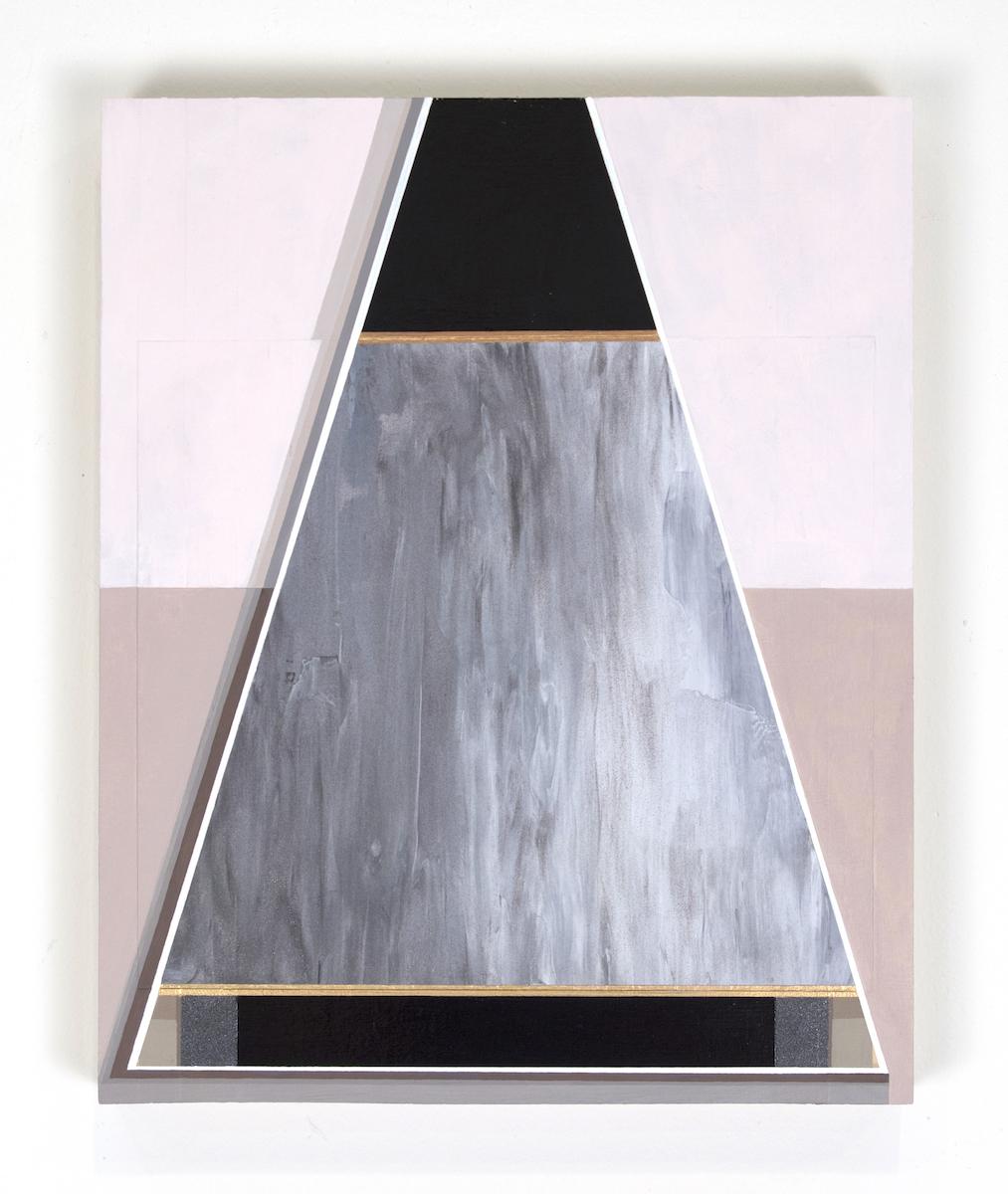 "Mary Laube, Cascade, acrylic on panel, 12""x9.5"", 2018"