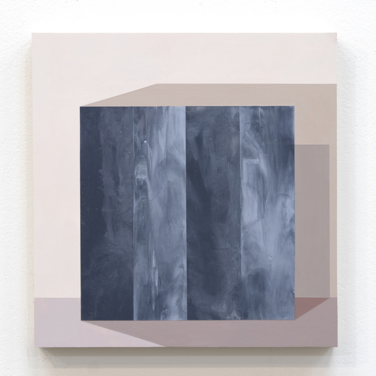"""Mary Laube, The Wall Opened Noiselessly Before Me, acrylic on panel, 12""""x12"""", 2018"""