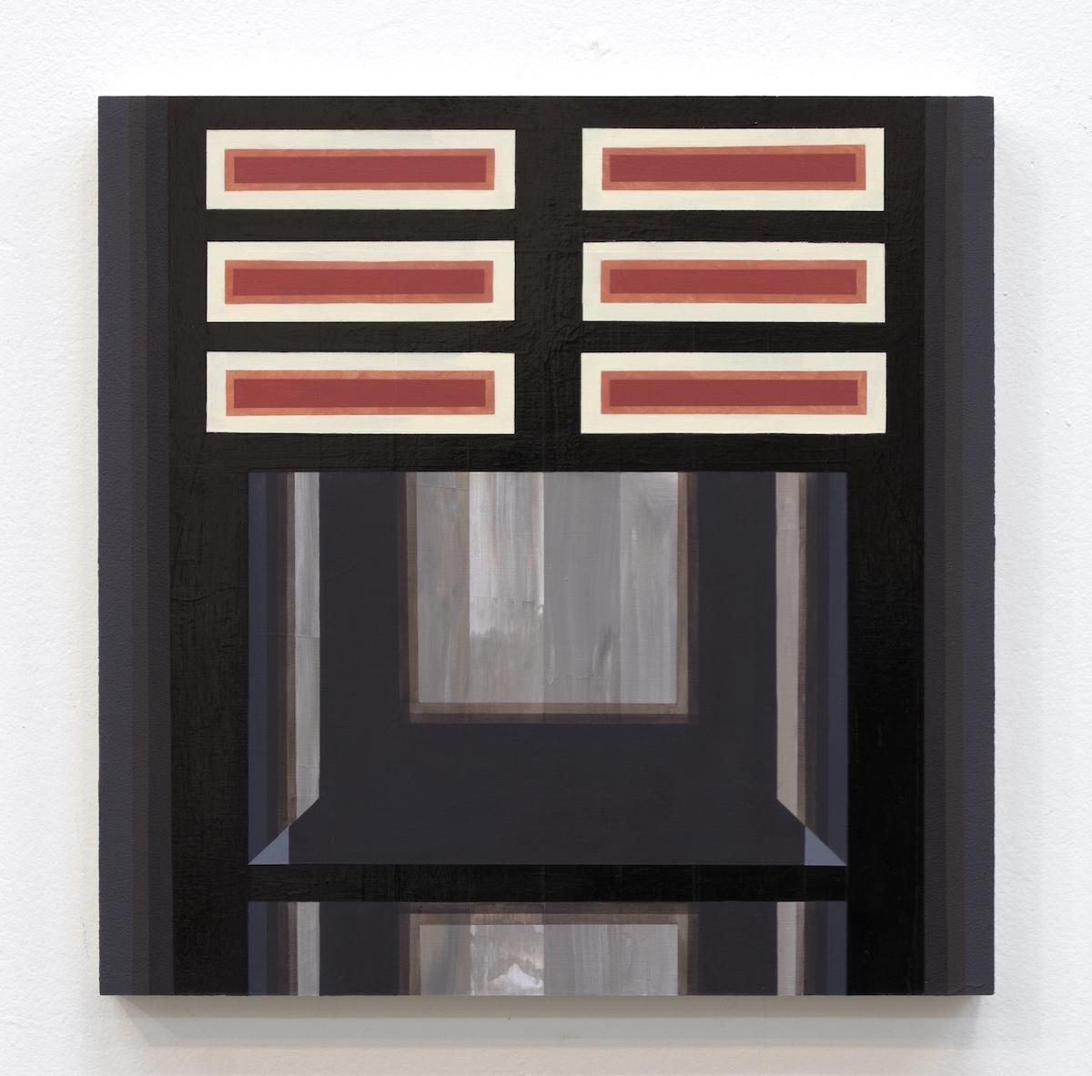 Mary Laube, In Silence, acrylic on panel, 12