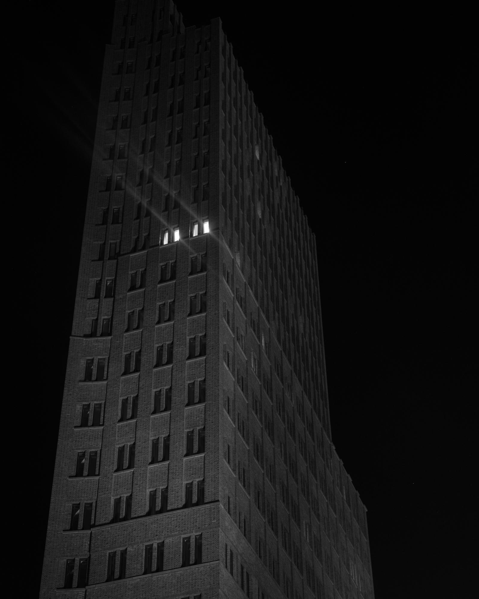 Building at Night, 2017, Archival Pigment Print, 16x20